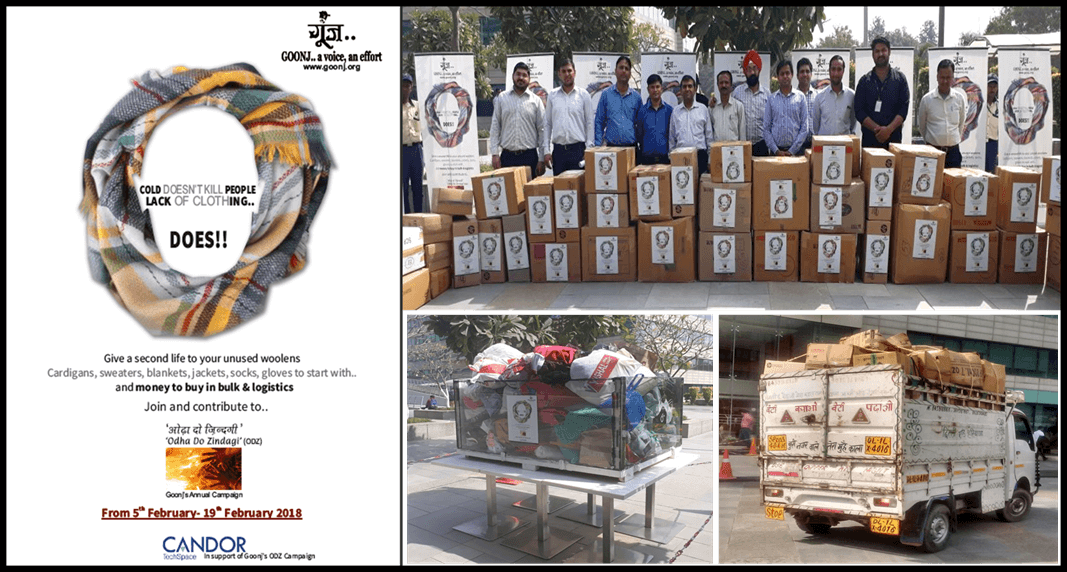 Donation Drive With Goonj @ Sector-21, Campus