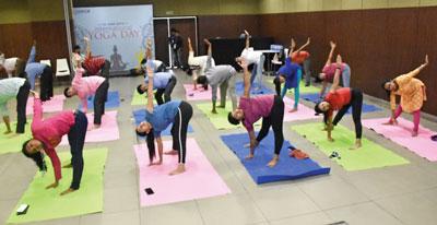 International Yoga Day - Candor TechSpace Kolkata