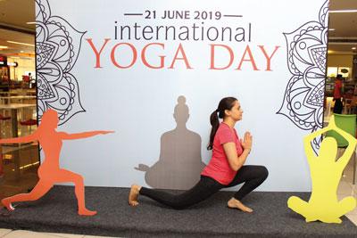 International Yoga Day Sector 48 Gurugram campus
