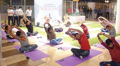 International Yoga Day - Candor TechSpace Sector 135 Noida