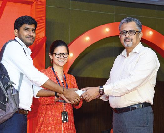 Winners being felicitated - Candor TechSpace