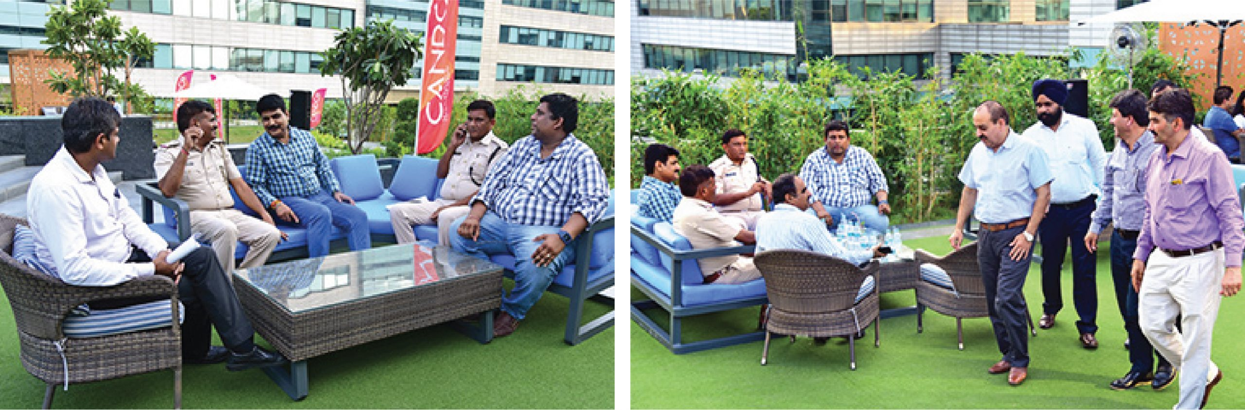 Conversations galore, at the inauguration & Some of the attendees at the event - Candor TechSpace