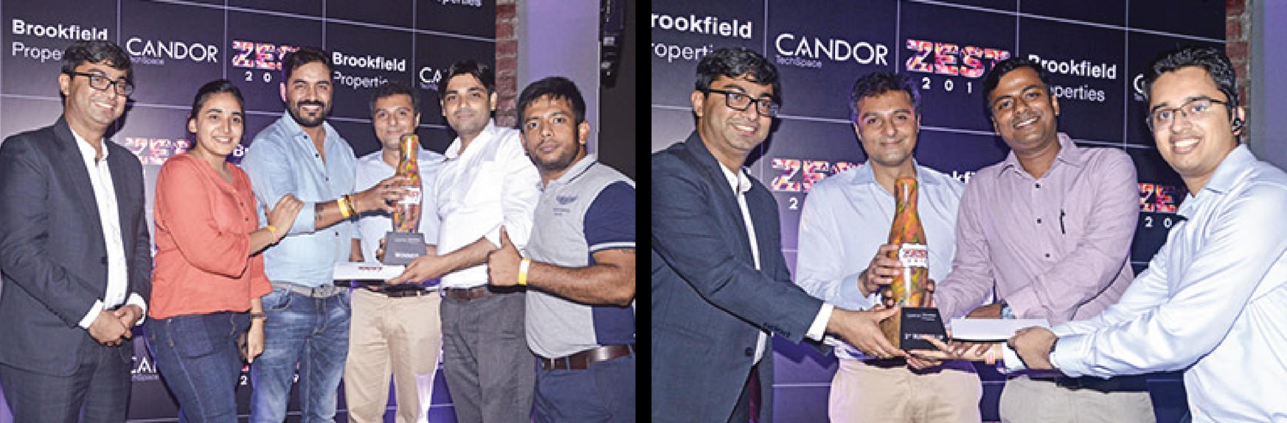 Team spirit at its best & The winners - Candor TechSpace