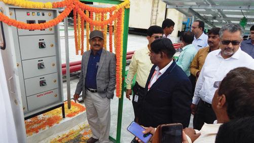 Mr B K Panda, Development Commissioner, Falta SEZ (Kolkata) inaugurating the rooftop solar plant at Candor's Kolkata campus